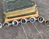 Typewriter Key Bracelet j...