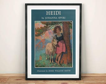 CLASSIC BOOK PRINT: Vintage Heidi Cover Art Print