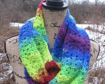 Rainbow Belleflower Infinity Scarf