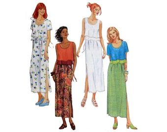 Maxi Dress, Pattern, Size 10 12 14, McCall's 9224, Dress With Layers, UNCUT, Size 10, Size 12, Size 14, Empire Waiste Dress, Shift