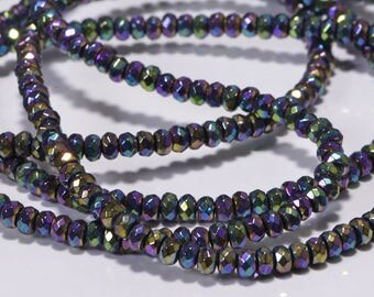 Hematite Faceted Square Beads, hematite beads, faceted silver beads, gemstone strands, jewelry making