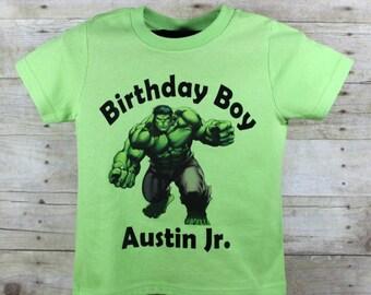 Birthday Boy Hulk T Shirt, Hulk Birthday shirt, Green Hulk Birthday shirt