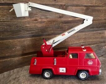 Vintage Tonka Snorkel Fire Truck with Aerial Bucket