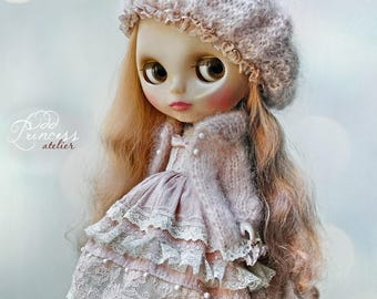 Blythe/Pullip Set PASTEL DREAMS By Odd Princess Atelier, Victorian Outfit, Spring-Summer Hand Knitted Collection