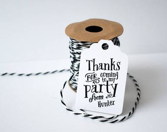 10 x party favour tags, favour tag, Birthday tags , boy's birthday party, black and white party, gift tag, pirate party, custom tag, party