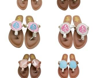 FLOWER GIRL Kids Monogram Flip Flops, KIds Monogrammed Sandal, Childrens Monogrammed Flip Flop, Monogram Flower Girl Flip Flops