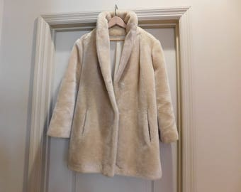 Faux Fur Coat - Nice Buff Color - Versatile Color and Style - Great Price
