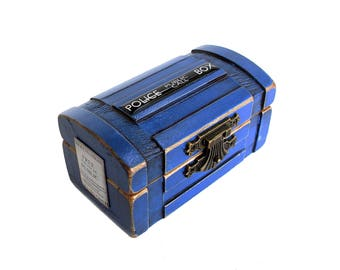 Engagement Ring Box - Ring Bearer Box - Little Blue Box - Police Call Box - Custom Quote -
