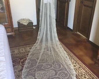 Edwardian Tambour Wedding Veil