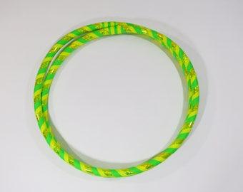 LeMoN LiMe GLOW // Collapsible Infinity Hula Hoop // Custom // Made to Order // Neon // Yellow // Green // Sparkle // Fun // Toy // Kids