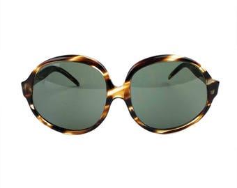 Vintage 1970s Big Eye Sunglasses // Large Oversized Tortoise Frames //  S-677 Sun I Mer Made in U.S.A. // Summer Festival Glamour Boho Chic