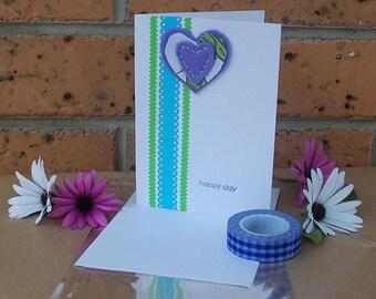 Happy Day Heart Card OOAK