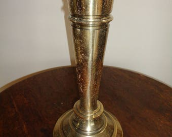 AND THE LAMP Goes To...Vintage Solid Brass Lamp with a unique crackled finish in Non Working Condition and needs a Lamp Shade as well
