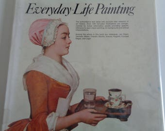 """Vintage Art History Book titled """"Everyday-Life Painting"""" with 100 Full-color Illustrations and written by Helen Langdon in Used Condition"""