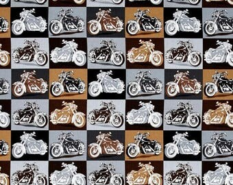 Quilting Treasures - Biker For Life Motorcycle Patches Gray