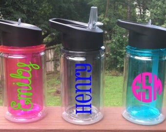 Personalized Monogrammed Kid's Water Bottles
