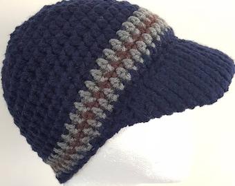 Blue cap hat 6-10y