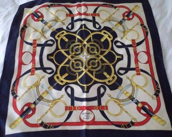 Authentic Vintage Hermes Scarf from 1974 ON SALE NOW