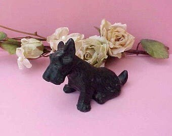 Sweet Little Vintage Iron Scotty Dog Figurine