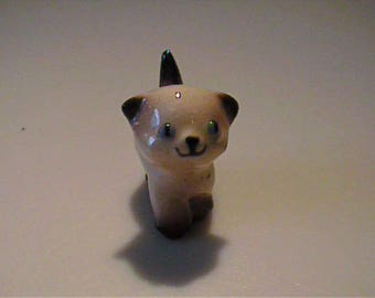 Vintage 1950's miniature Hagen Renaker Siamese kitten