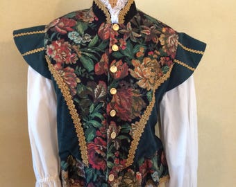Renaissance Halloween Costume Medieval Male Costume  Renaissance Fair Medieval Clothing Fantasy 3 piece