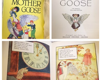 Vintage childrens book , Mother Goose The Classic Volland Edition, classic children's book, Illustrations by Frederick Richardson