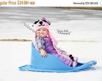 SUMMER SALE Baby Panda Bear Scarf Hat - Crochet Newborn Beanie Boy Girl Costume Winter  Photo Prop Cap Christmas Outfit