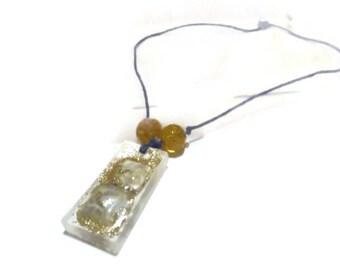 Goldstone a simple distraction Minimalist Hemp Necklace