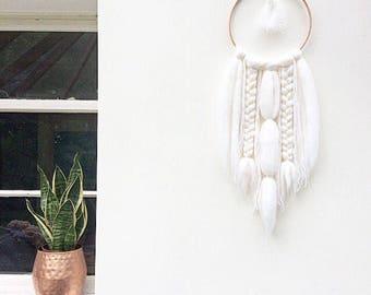 Boho Wall Hanging | Dream Catcher | Wall Hanging | white