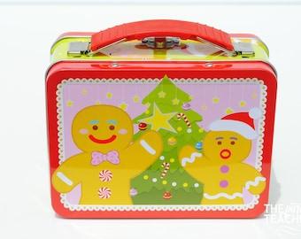 Christmas Mini Lunch Box - Christmas Tin Box - Christmas Tin Lunch Box - Christmas Favor Box - Tin Favor Box - Mini Lunch Box - Lunch Box