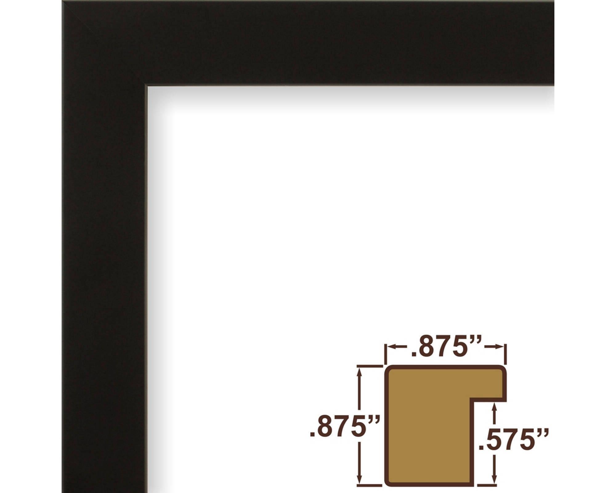 Craig Frames, 17x22 Inch Modern Black Picture Frame, Confetti .875 ...