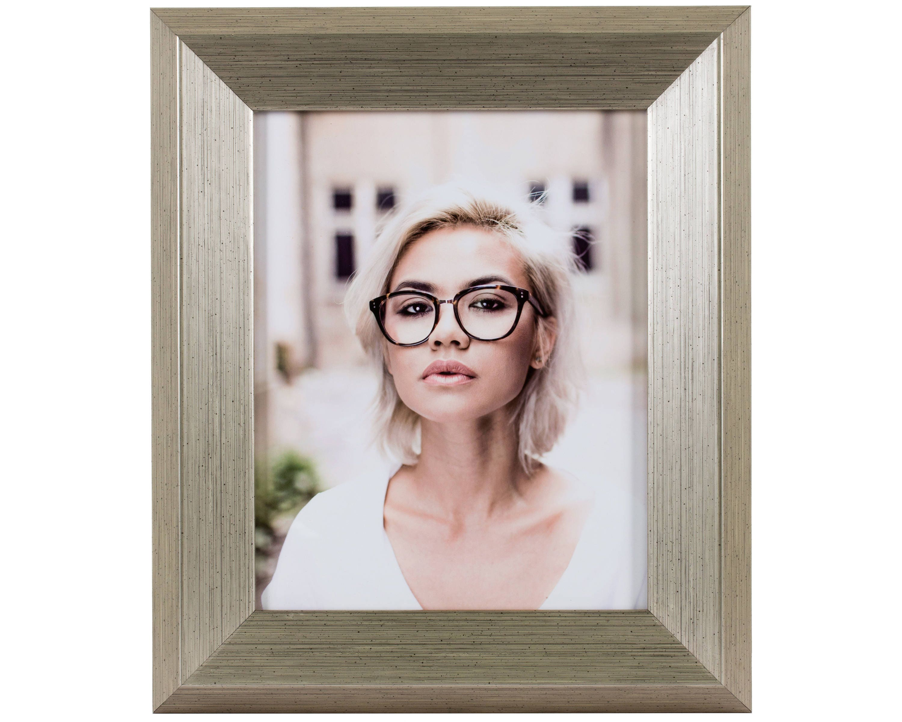 Craig frames 19x25 inch brushed silver and black picture frame sold by craigframes jeuxipadfo Image collections