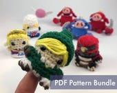 SALE The Legend of Zelda Crocheted Amigurumi Finger Puppet PDF Pattern Bundle