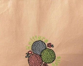 Medium Wide-Mouth Wedge Bag - Knitters Have Balls