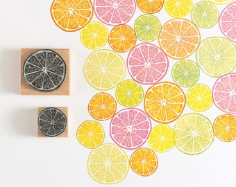 Citrus Lemon Rubber Stamp