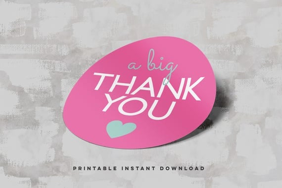 A big thank you printable sticker sheets printable thank you stickers small business thank you printable packaging stickers poshmark