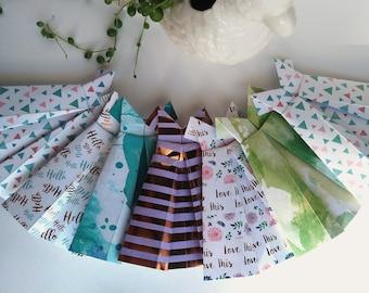 Springtime - Paper Dress Bunting