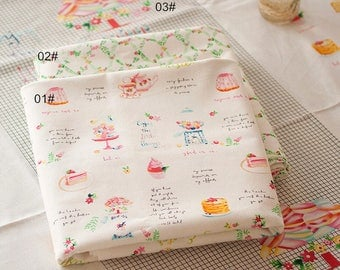 Cotton Linen Fabric with Cake Linen Cotton Fabric - QT1316