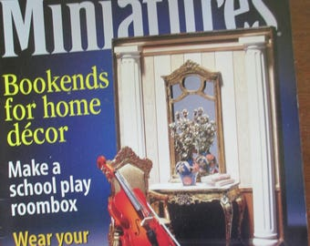 Dollhouse Miniatures Magazine Back issue November 2000 used good condition.
