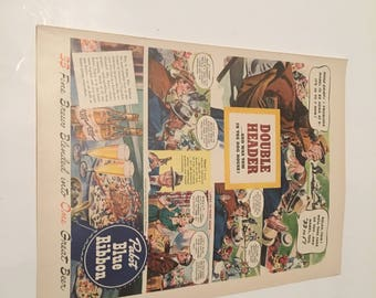 1942 pabst blue ribbon vintage ad suitable for framing