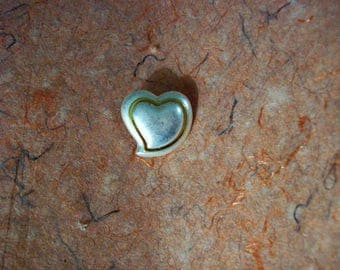 Heart Shaped Metal Buttons