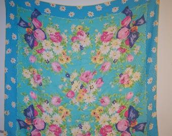 Vintage Ungaro Silk Floral Scarf