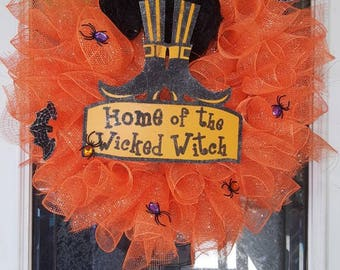 Home of the Wicked Witch Halloween wreath