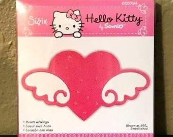 Sizzix Hello Kitty Heart w/Wings by Sanrio Bigz Die 655794 - New