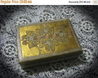 15% OFF Sale Vintage Hand Painted Trinket Box-Storage