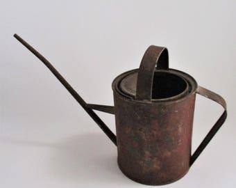 Vintage Oil Can Rusty Rustic Farmhouse Industrial Decor Metal Vase