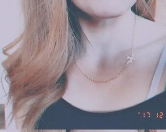 Small Adorable Bird necklace