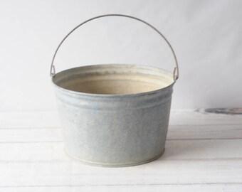 Decorative Galvanized Tub Wash Tub Bucket Galvanized Metal Mop Bucket Marked A