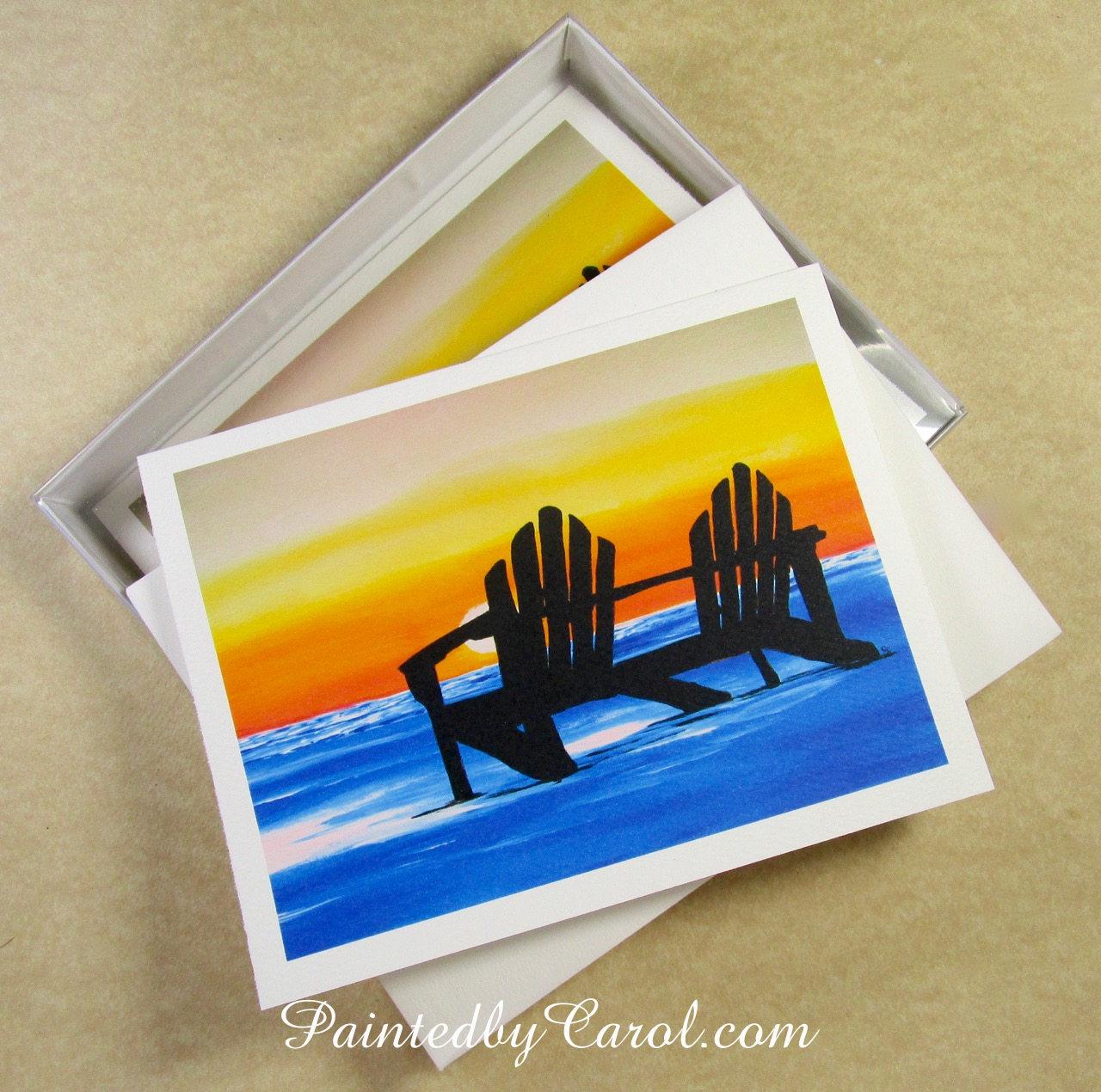 Beach sunset note cards blank beach sunset note card set beach beach sunset note cards blank beach sunset note card set beach greeting cards kristyandbryce Gallery