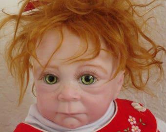 "Reborn 20"" Nordic Baby Girl Christmas Troll Doll- Ooak! READY TO SHIP"